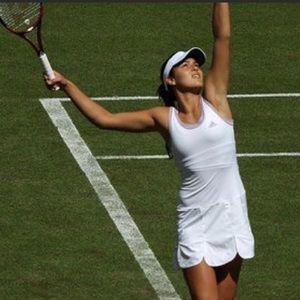 ADIDAS Clima365 lilac & white tennis dress